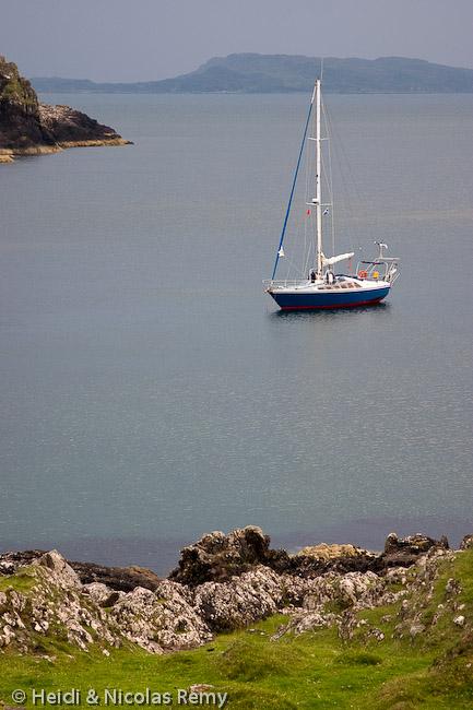 Fleur de Sel au mouillage en Ecosse Lien vers: http://photos.belle-isle.eu/sailing